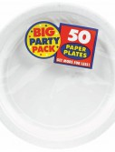 Frosty White Big Party Pack - Dinner Plates (50 count)