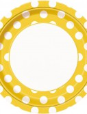 Yellow and White Dots Dinner Plates (8)