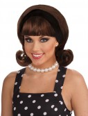 50's Flip Wig - Brown Adult