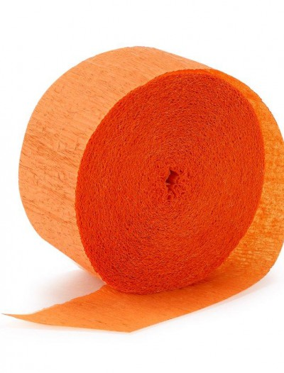 Bright Orange (Orange) Crepe Streamer - 81'