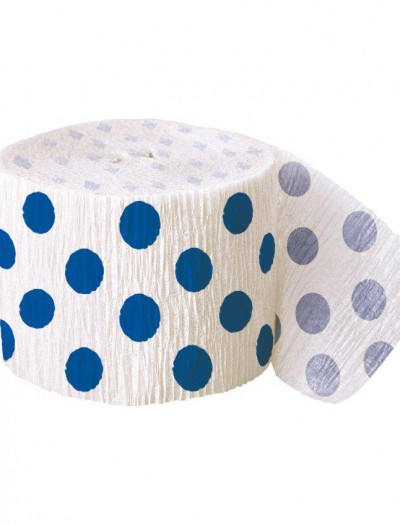 Blue and White Dots Crepe Paper