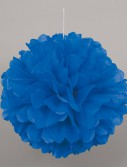 Blue Hanging Puff Ball