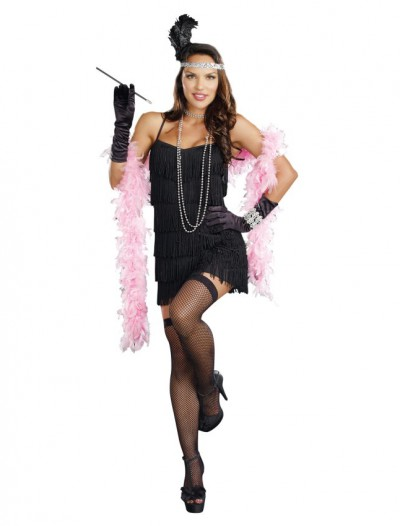 20s Black Flapper Plus Size Dress