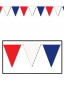 Red  White  and Blue 30' Outdoor Pennant Banner