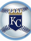 Kansas City Royals Baseball - Round Dinner Plates (18 count)