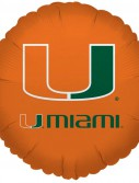 Miami Hurricanes - 18 Foil Balloon