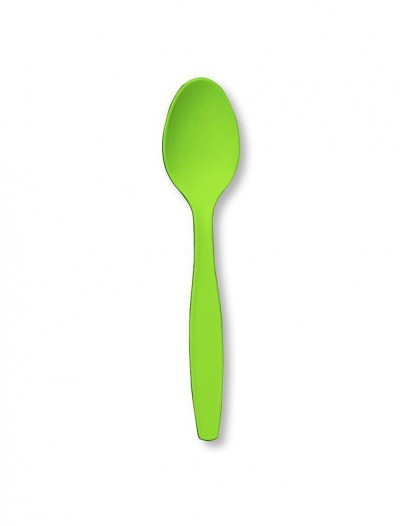 Fresh Lime (Lime Green) Spoons (24 count)