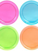 Neon Plastic Dinner Plates Assorted (20 count)