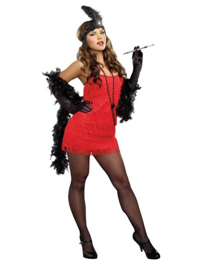 20s Red Flapper Plus Size Dress