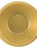Glittering Gold (Gold) Plastic Bowls (20 count)