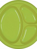 Kiwi Plastic Divided Banquet Dinner Plates (20 count)