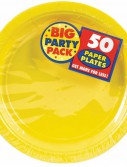 Yellow Sunshine Big Party Pack - Dinner Plates (50 count)