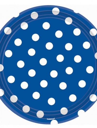 Blue Polka Dot Banquet Dinner Plates (18 count)