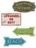 Beach Sign Cutouts (4 count)