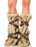 Medieval Warrior Fur Leg Warmers