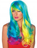 Prism Long Wavy Rainbow Adult Wig