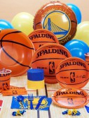 Golden State Warriors NBA Basketball Deluxe Party Kit