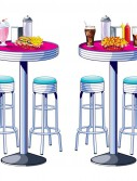 1950's Soda Shop Tables Stools Props