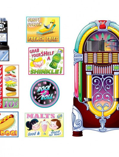 1950's Soda Shop Signs Jukebox Props