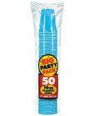 Caribbean Blue Big Party Pack - 16 oz. Plastic Cups (50 count)