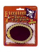 See Through Eye Patch with Gold Trim