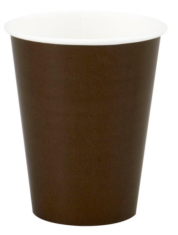 Chocolate Brown (Brown) 9 oz. Cups (24 count)