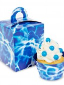 Blue Lightening Cupcake Boxes (4 count)