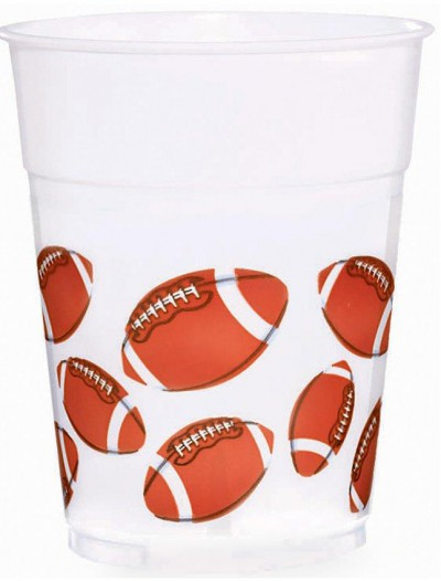 Football Fan 14 oz. Plastic Cups (8 count)
