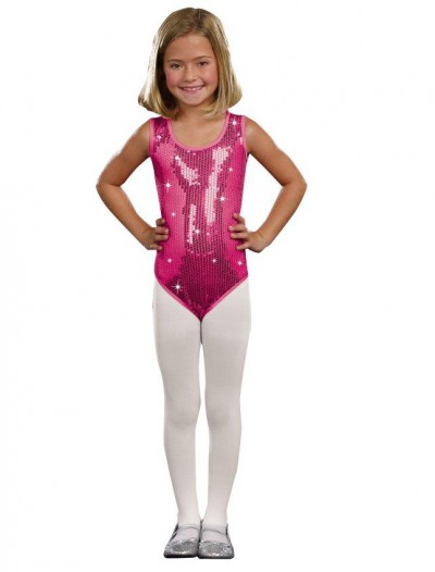 Kids Pink Sequin Leotard