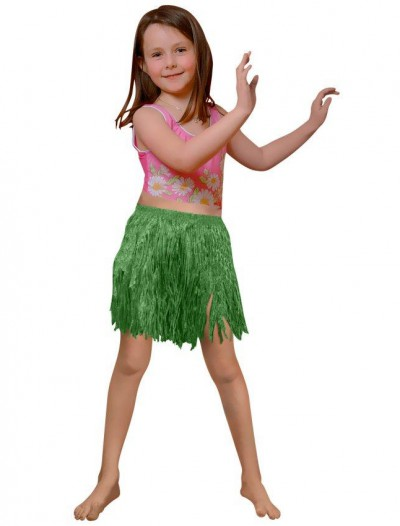 Child Green Mini Hula Skirt
