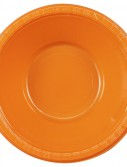 Sunkissed Orange (Orange) Plastic Bowls (20 count)