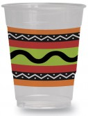 Fiesta Stripes 16 oz. Plastic Cups (8 count)