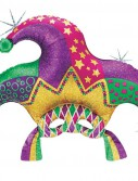 Holographic Mardi Gras Mask 37 Foil Balloon