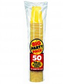 Yellow Sunshine Big Party Pack - 16 oz. Plastic Cups (50 count)