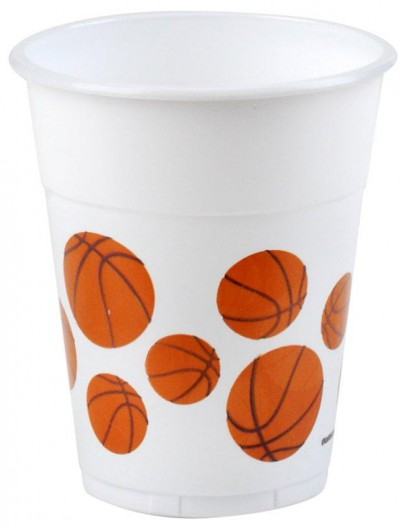 Basketball 14 oz. Plastic Cups (8 count)