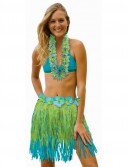 Adult 31 Two Tone Blue / Green Grass Skirt