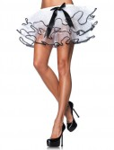 Petticoat White With Black Trim Bow (Adult)