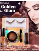 Hallow's Eve Golden Glam Makeup and False Eyelashes Kit Adult