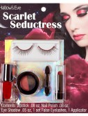 Hallow's Eve Scarlet Seductress Makeup and False Eyelashes Kit Adult