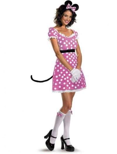 Sassy Pink Minnie Mouse Adult Costume