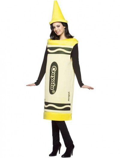 Crayola Yellow Crayon Adult Costume