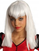 Glitter Vamp White Child Wig