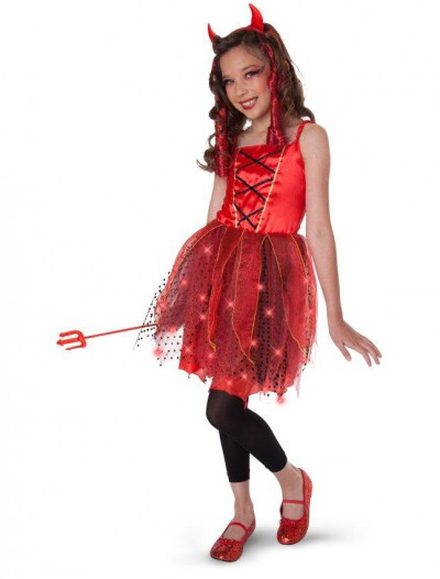 Dazzling Devil Light-Up Child/Tween Costume