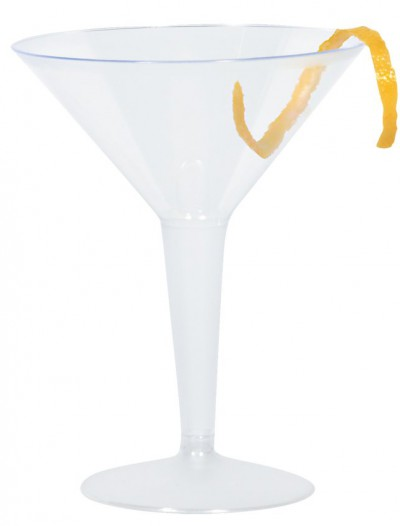 Plastic 8 oz. Martini Glasses (10 count)