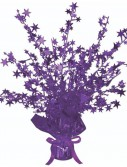 Purple Foil Star Gleam 'N Burst Centerpiece