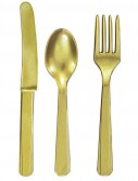 Gold Forks  Knives Spoons (8 each)
