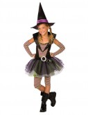 Green and Purple Striped Witch Child Costume