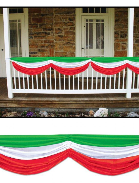 Red  White and Green Fabric Bunting