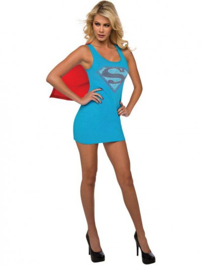 DC Comics - Rhinestone Supergirl Tank Dress