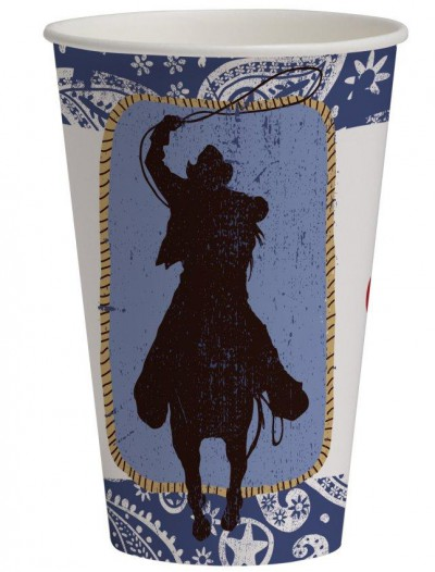 Western Lasso 12 oz. Paper Cups